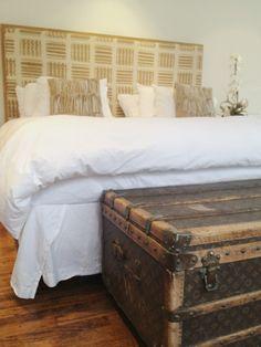 Vintage Louis Vuitton Trunk bedroom