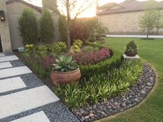 Another beautiful landscaping project done by Cut-N-Edge Lawn & Landscape/Arizona / #landscaping #frontyard #curbappeal