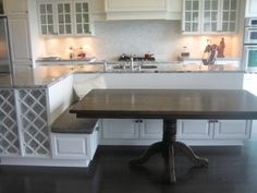 kitchen island with built in seating - Google Search