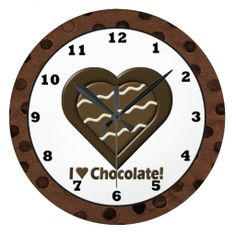 I Love Chocolate wall clock Chocolate Walls, Chocolate Humor, Chocolate Quotes, Chocolate Pictures, I Love Chocolate, Chocolate Pies, Chocolate Cookies, Recipes From Heaven, Sentimental Gifts