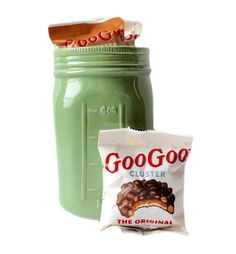 Original and Peanut Butter GooGoo Clusters in a reusable ceramic Mason Jar. #Nashvillegifts #MothersDayGift