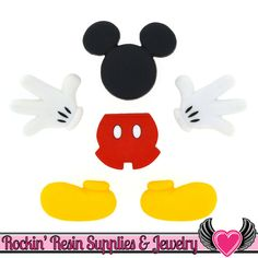 Disney Dress It Up Collection Mickey Mouse Body Parts Scrapbook Button Embellishments by Jesse James Buttons Mickey Mouse Crafts, Mickey Mouse Dress, Mickey Mouse Birthday, Disney Mickey Mouse, Mickey Mouse Template, Disney Fun, Baby Birthday, Birthday Cards, Disney Buttons