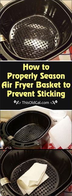 This article on How to Properly Season Air Fryer Basket to Prevent Sticking, wil. - This article on How to Properly Season Air Fryer Basket to Prevent Sticking, will help teach you ho - Air Fryer Oven Recipes, Air Fryer Dinner Recipes, Phillips Air Fryer, Nuwave Air Fryer, Actifry Recipes, Cooks Air Fryer, Air Fried Food, Air Fryer Healthy, Air Frying
