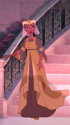Tiana in the medieval dress she wore for the La Bouff's costume ball in Disney's The Princess and the Frog.