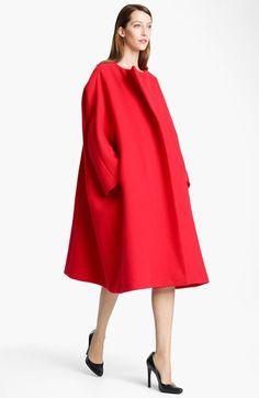 Jil Sander Oversized Double Face Melton Wool Coat Item # 570344