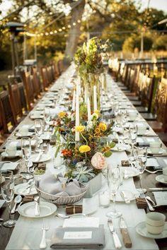 Mesa comunitária no casamento