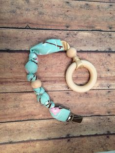 Pacifier teething toy with wood ring by BelleDakota on Etsy, $8.50