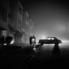 Fred Lyon Foggy Night at Land's End, 1953 | Black and White #people #photography #vintage