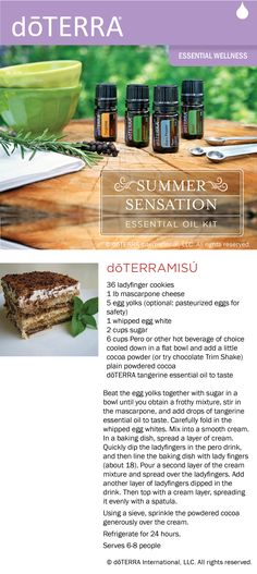 Our take on tiramisu made with dōTERRA tangerine essential oil.