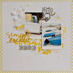 #papercraft #scrapbook #layout. Simple Escale by Armance Scrap