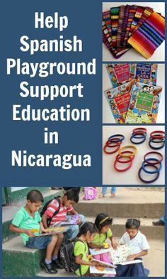 Education makes all the difference. Help Spanish Playground support education in Nicaragua by purchasing great products. Free shipping. http://spanishplayground.net/educational-products-crafts-latin-america/