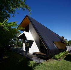 Arkhefield's latest residential project injects a bold new form into the leafy Brisbane suburb of New Farm. New Farm, House 2, Outdoor Gear, Fighter Jets, Tent, Concrete, Home And Family, Explore