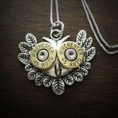 Owl Head Bullet Necklace                                                                                                                                                                                 More