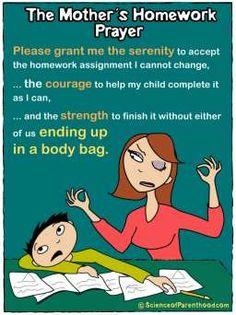 ScienceofParenthood.com - A Mother's Homework Prayer