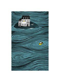 La isla de Hobson (Hobson´s Island) Book Cover by natalia zaratiegui, via Behance