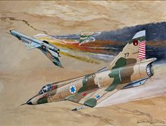Mirage IIIC of Giora Epstein, the highest scoring ace in the Israeli Air Force. .Commissioned by Rick Turner