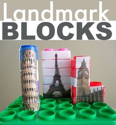 landmark blocks - great preschool geography. Montessori focuses on this a lot, great for those schools.