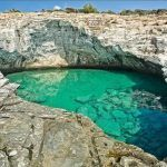 Thassos Island, Greece - The amazing natural salt pool at Giola Greek Islands To Visit, Greece Islands, Reserva Natural, Paradise On Earth, Cities In Europe, European Destination, European Travel, Water Activities, Natural Wonders