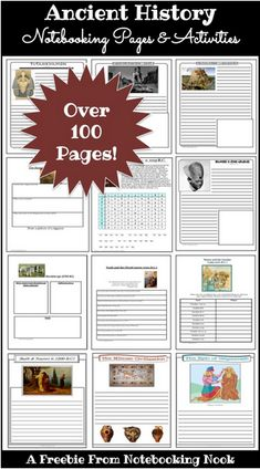 Free Ancient History Notebooking & Activity Pages (Over 100 Pages!)
