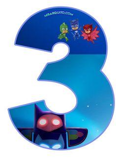 Más imprimibles de Pj Masks para descargar y decorar de la mejor manera una fiesta temática de los pequeños superhéroes. Podrás obtener gratuitamente los números de los Héroes en Piyamas para prepa…