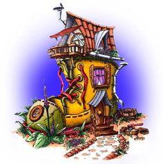 Boot House Digi Stamp in Digital images