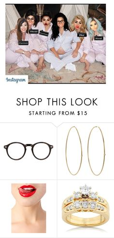 """""""@KatrinaStyles: Baby shower sleepover with these lovelies!"""" by littlestylez-official ❤ liked on Polyvore featuring Moscot, Jennifer Meyer Jewelry, TheBalm and Kobelli"""