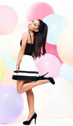 This black and white dress is perfect for tonight