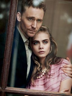 Cara Delevingne & Tom Hiddleston by Peter Lindbergh for Vogue May 2013