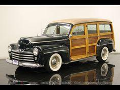 1948 Woody Wagon Hot Rod #cars