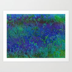 Midnight Floral Abstract Art Print by Judy Palkimas - $17.68