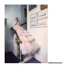 in Giambattista Valli Haute Couture 14 in June 2018 issue Ph. Vanessa Kirby, Romantic Woman, Giambattista Valli, Ph, Stylists, June, Ballet Skirt, Gowns, Formal Dresses