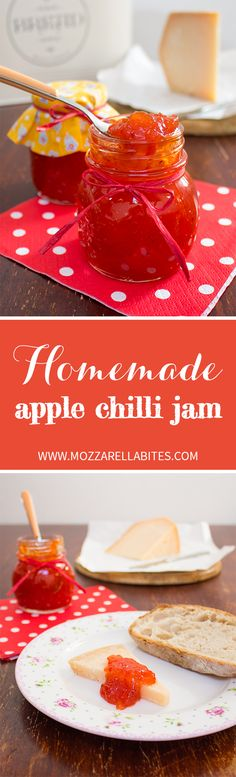Homemade apple chilli jam, perfect as a complement in a cheese plate or with your favourite meat!  Ingredients: Golden apples, 450 gr. (or 15.87 oz) Cherry bomb peppers, 110 gr. (or 3.88 oz) Cayenne flakes, a pinch Apple vinegar, 50 ml. (or 0.21 cups) Water, 150 ml. (or 0.63 cups) Caster sugar, 450 gr. (or 15.87 oz)