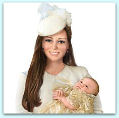 "Close up of Ashton Drake's Christening doll with ""superimposed"" photo shop of faces ......"