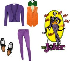 A fashion look from August 2012 featuring Ralph Lauren Blue Label, cardigan shrug and skinny capri jeans. Browse and shop related looks. Joker Costume, Joker Cosplay, Halloween Costumes, Female Joker, Joker Comic, Shrug Cardigan, Joker And Harley Quinn, Capri Jeans, Tim Burton
