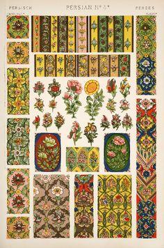 Jones, Owen, 1809-1874. / The grammar of ornament (1910)  [Persian ornament. Plates 44, 45, 46, 47, 47*, 48], pp. PL. XLIV-PL. XLVIII ff.