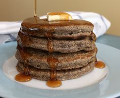 Gluten Free Whole Grain Buckwheat Pancakes