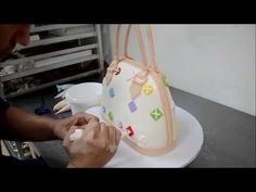 How we designed and made a custom Louis Vuitton Purse Cake - YouTube