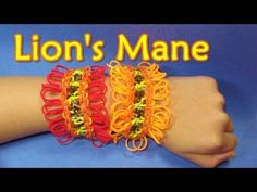 Rainbow Loom LION'S MANE Bracelet. Designed and loomed by daughter of DIYMommy. Click on photo for YouTube tutorial. 03/21/14