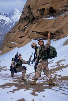 10th Mountain in Afghanistan, GI Joe illustration by Larry Selman