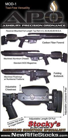APO MOD-1 SABER-FORSST MODULAR RIFLE CHASSIS SYSTEMS - Remington 700 Long Action - APO Black