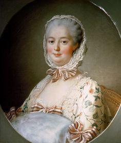 Portrait of Madame de Pompadour (1721764) with a Fur Muff, 1763 by Francois-Hubert Drouais (1727-1775)