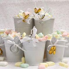 Details Tin Pail Wedding Favors, 3-ct. Packs image