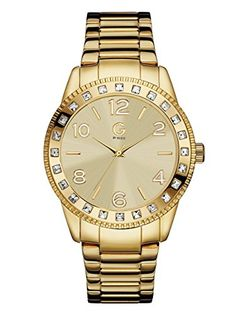 G by GUESS Women's Gold-Tone Crystal Watch - Jewelry For Her