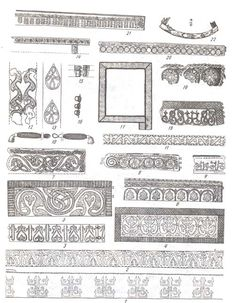 Embroidery samples form medieval Russian finds