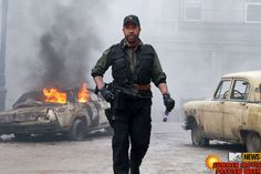 another new #Expendables2 movie image with forever kick butt #ChuckNorris