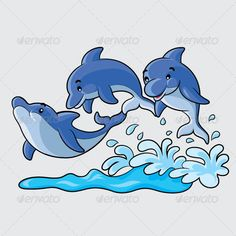 Dolphins Cartoon animal, blue, cartoon, cute, design, dolphin, dolphins, draw, drawing, fauna, fish, fun, happiness, happy, illustration, jump, jumping, mammal, marine, nature, ocean, play, playing, sea, smile, smiling, vector, vectors, water, wave, Dolphins Cartoon