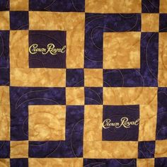 crown royal quilt images | Lap Sized Crown Royal Quilt Made from Your Bags by SharonsQuilts