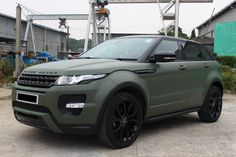 matte Army green Land Rover Range Rover Evoque