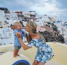 Mom and son and vacation goals all in one
