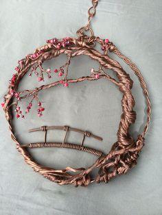 Cherry blossom sculpture tree suncatcher by wireandbeyond808